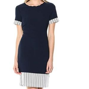 Ivanka Trump Scalloped Neck Sheath Dress